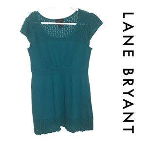 Lane Bryant Teal Knit Sweater Top